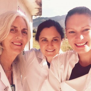 Sheffield Acupuncturist Kimberley Shepherd with fellow practitioners in Nepal